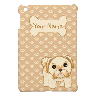 Kawaii Cute Shih Tzu Puppy Dog Cartoon Animal Cover For The iPad Mini