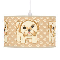 Kawaii Cute Shih Tzu Puppy Dog Cartoon Animal Hanging Lamp