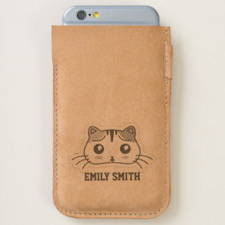 Kawaii Cute Shy Little Kitty Kitten. iPhone 6/6S Case