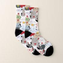Kawaii Cute Squirrels Pattern Socks