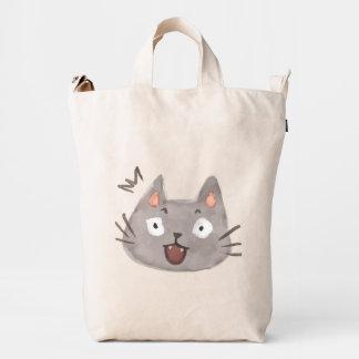 Kawaii Cute Surprised Little Kitty Kitten Cat. Duck Bag