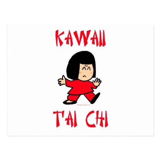 kawaii cute tai t'ai chi martial arts chibi postcard