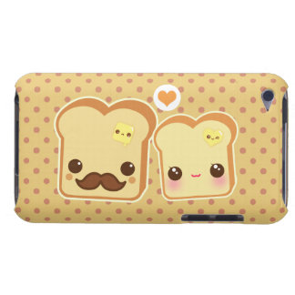 Kawaii cute toasts couple barely there iPod case