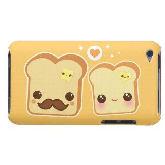 Kawaii cute toasts couple iPod touch case