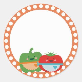 kawaii cute vegetables baking bakery gift tag stic