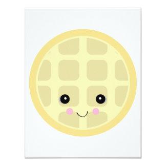 "kawaii cute waffle 4.25"" x 5.5"" invitation card"