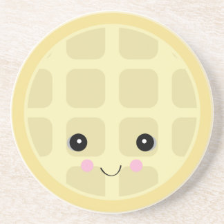 kawaii cute waffle beverage coasters
