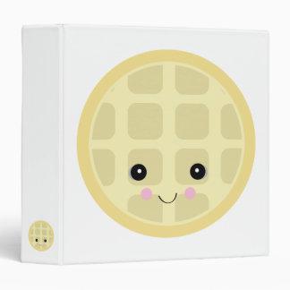 kawaii cute waffle binder