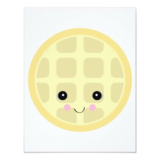 kawaii cute waffle custom invites