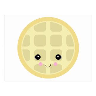 kawaii cute waffle postcard