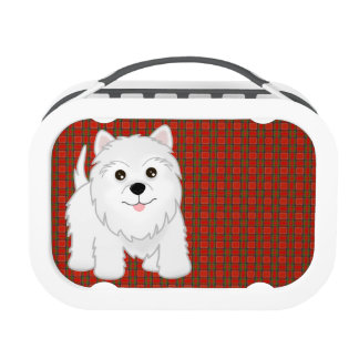 Kawaii Cute West Highland White Terrier Puppy Dog Lunch Box