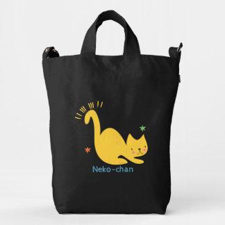 Kawaii Cute Yellow Kitty Cat. Add Baby's Name. Duck Bag