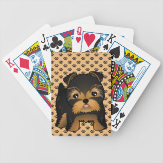 Kawaii Cute Yorkshire Terrier Puppy Dog Bicycle Playing Cards