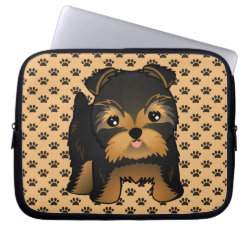 Neoprene Laptop Sleeve 10 inch with Yorkshire Terrier Phone Cases design