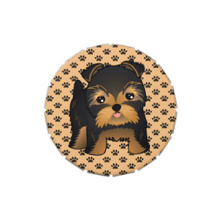 Kawaii Cute Yorkshire Terrier Puppy Dog Jelly Belly Candy Tins