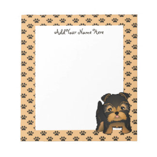 Kawaii Cute Yorkshire Terrier Puppy Dog Note Pad
