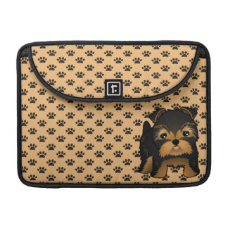 Kawaii Cute Yorkshire Terrier Puppy Dog Sleeves For MacBooks
