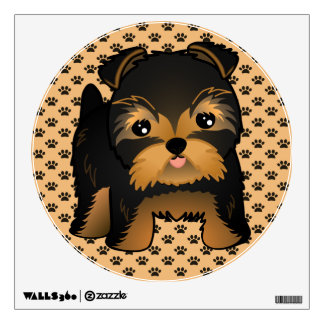Kawaii Cute Yorkshire Terrier Puppy Dog Wall Sticker