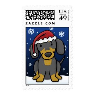 Kawaii Dachshund Christmas Stamps