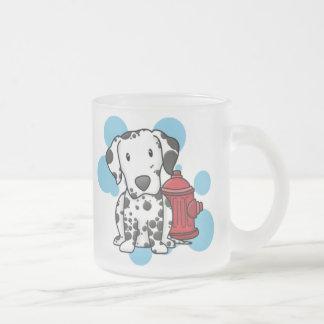 Kawaii Dalmatian Fire Hydrant Glass Mug (No Text)