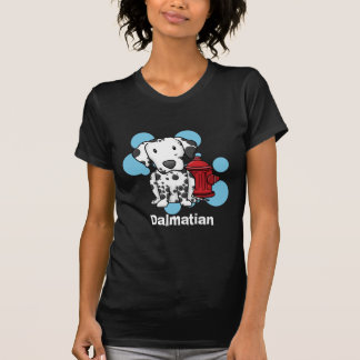 Kawaii Dalmatian & Fire Hydrant Ladies TShirt