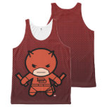 Kawaii Daredevil With Paired Short Sticks All-Over-Print Tank Top