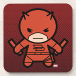 Kawaii Daredevil With Paired Short Sticks Beverage Coaster
