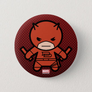 Kawaii Daredevil With Paired Short Sticks Button
