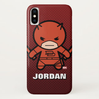 Kawaii Daredevil With Paired Short Sticks iPhone X Case