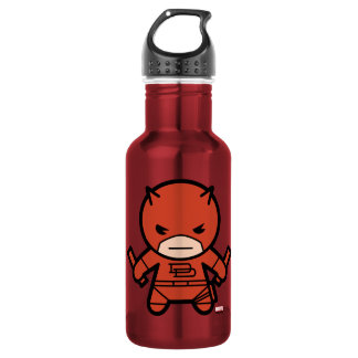 Kawaii Daredevil With Paired Short Sticks Stainless Steel Water Bottle
