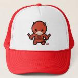 Kawaii Daredevil With Paired Short Sticks Trucker Hat