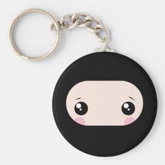Kawaii de ruborización Ninja Llavero Redondo Tipo Pin