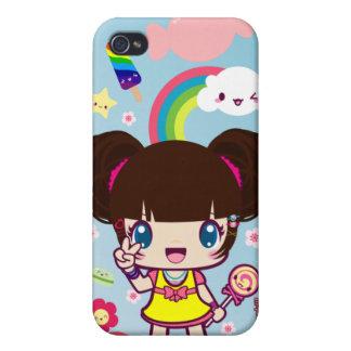 Kawaii Decora Girl Yuriko iPhone 4 Cover