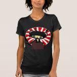kawaii del gato del ninja camisetas