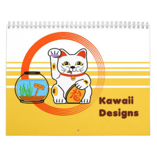 Kawaii designs calendar