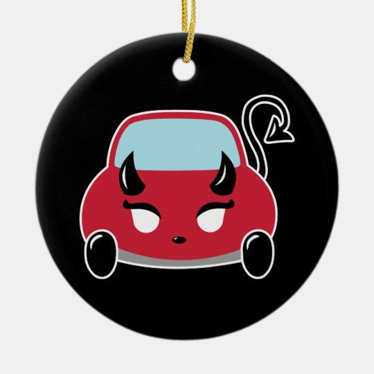 Kawaii Devil Car Ceramic Ornament