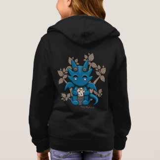 Kawaii Dice Dragon Girl's Zip Up Hoodie Sweatshirt