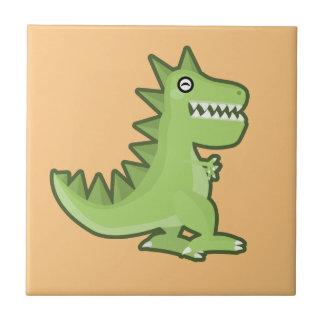Kawaii Dinosaur Ceramic Tile