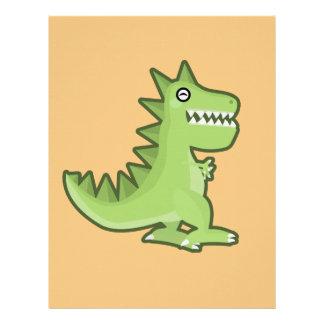 Kawaii Dinosaur Letterhead