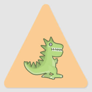 Kawaii Dinosaur Triangle Sticker