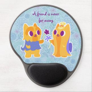 Kawaii Dog Best Friend or Puppy Love Yorkies Gel Mouse Pad