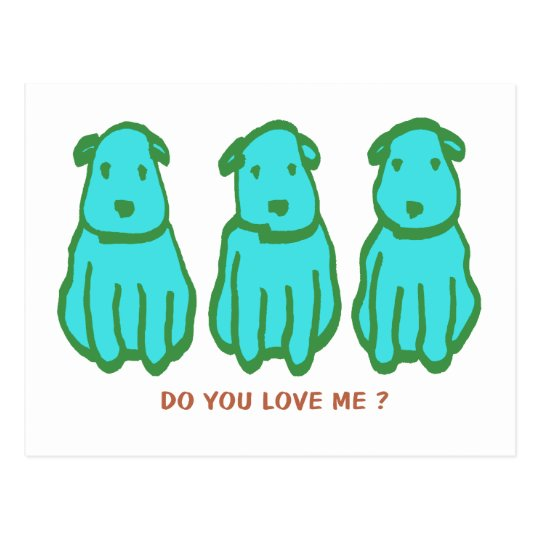 Kawaii Dogs Postcard