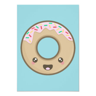 Kawaii Donut Card