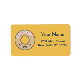 Kawaii Donut Label