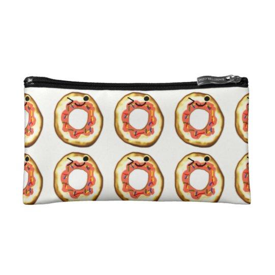 Kawaii doughnut cosmetic bag