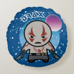 Kawaii Drax In Space Round Pillow