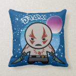 Kawaii Drax In Space Throw Pillow