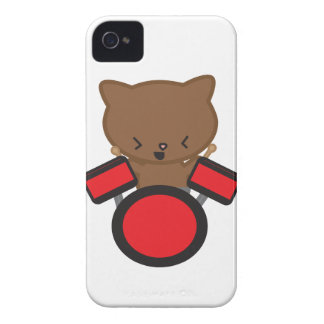 Kawaii Drummer Cat Blackberry Bold Cover