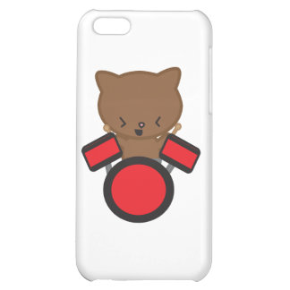 Kawaii Drummer Cat Case For iPhone 5C