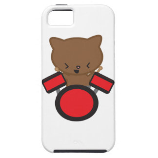 Kawaii Drummer Cat iPhone SE/5/5s Case